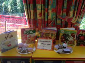 P2/3 are really enjoying the story of The Very Hungry Caterpillar and learning about food.
